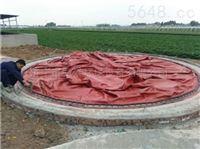 鸡场沼气发酵袋集粪池沼气储存处理厂家